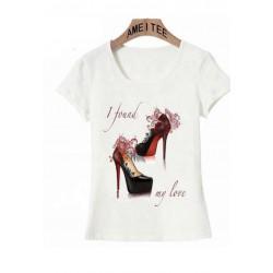 """T-Shirt Damen """"high hills"""""""